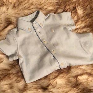 Ralph Lauren Polo baby boys shortalls 3-6 months